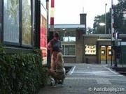 Public sex at a train station