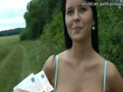 Busty Czech girl Mia drilled in public with pervert strangermofo