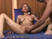 Brown indian beauty fingered