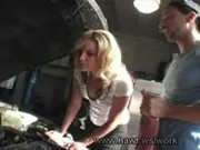 Blonde pussy for mechanic