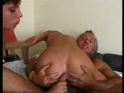 Threesome ass to mouth action