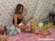 Brunette Teen Wears Diaper