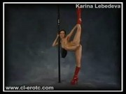 Nude Flexible Chick In Red Boots Showing Extreme Positions
