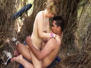 Hot teen couple fucking on the beach - Jose y Merce