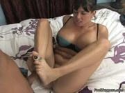 Tory Lane - Tory Uses Her Feet To Rub Dick