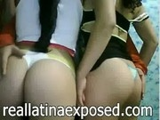 Latina duo of bitches showing off