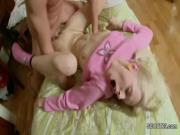 Skinny Step-Sister Wake Up Brother to get First Anal Fuck