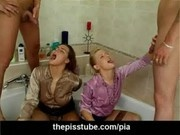Golden shower on two girls that start peeing themselves afte