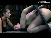 Girl Tied In Frame In Doggy Getting Spanked Bag To Head Dildo To Pussy Ass Spanked By Mistress In Th