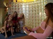 Aria Noir, Melanie X and Pason Lesbian Bitches at Vidz