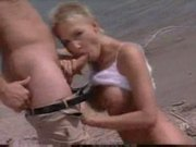 Seductive french woman fucked her man on the beach