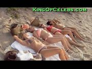 Denise richards sunbathing with friends
