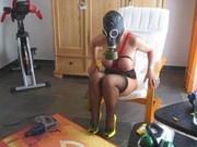 Lady B working