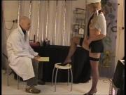 Chavvy big tit hottie Sharon pussy gaping and posing with older guy