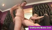 Old man fucking a young blonde