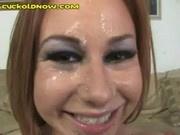 Cuck Cleans Triple Facial