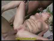 5 chicks Anal Gangbanged Poolside 3