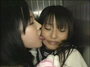 Young Girl Forced Lesbian Sex in elevator 1
