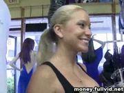 Blonde flashing titties