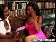 Sierra and Caramel are big booty blacks with huge knockers at Ebony Universe