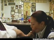 Boss gets blowjob from New Secretary