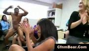 Girls suck dick at reality cfnm office party