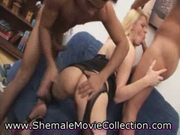 Hot shemale double penetrated!