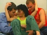 Russian Mature Lady Fucking WithTwo Boys