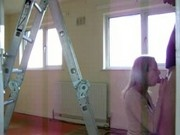 Hot amateur doggystyle at a ladder