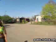Public park blowjob