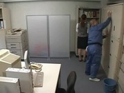 Businessgirl fucked by ugly janitor