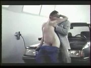 Hot mechanic babe sex on peugeot 205 hood