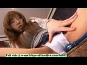 Serina Hayakaw, hot asian student enjoys masturbation by a friend