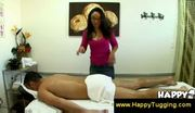 Asian masseuse offers to jerk him off