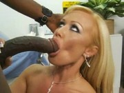 Blone milf loves black cocks