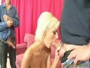 Christine Alexis - Sexy Blonde Babe Blows Cock