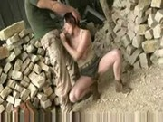 cute and bigboobs babe fucking with stone crusher worker