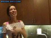 Teen kitchen masturbate
