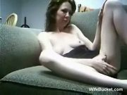 Homemade sex on the couch