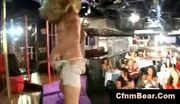 Cfnm party girls suck off horny cfnm bear