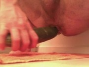 Cucumber in my ass 2