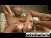 Hot Blonde Bending and Fucked