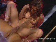 Stunning Latina Jennifer Luv Convinces Bartender To Screw Her While Clients Watc