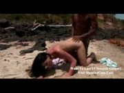 Blonde Watches Couple Fuck on the Beach