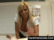 Scarlett march gives a harsh handjob