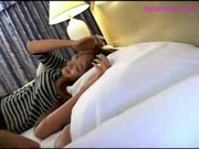 Asian Girl Getting Her Nipples Sucked Pussy Fingered By 2 Girls On The Bed