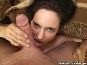 Naughty MILF Rubs Hard On A Cock