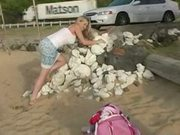 Alison angel - cute beach play