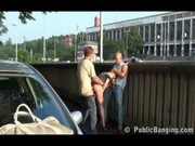 Public threesome on the street Prt 2 of 4
