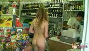 Blonde walking nude in public 2